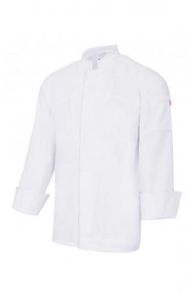 Chemise de cuisine à fermeture centrale