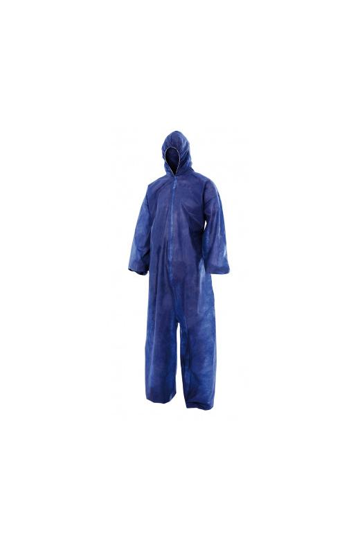 Bleu de travail avec capuche jetable