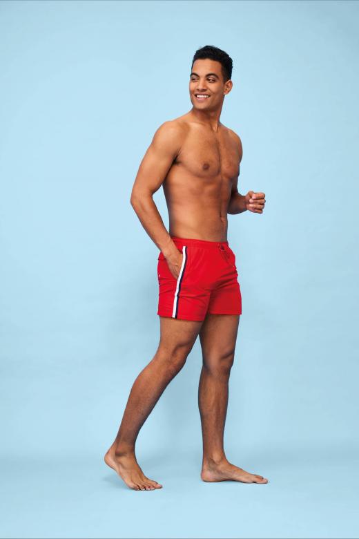 Short de bain tricolore homme