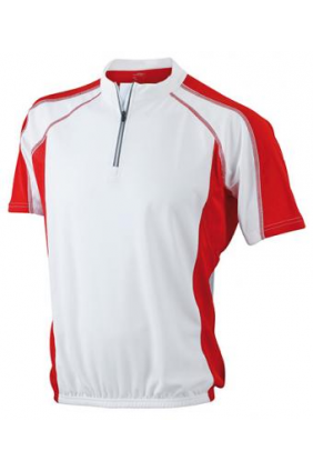 Maillot cycliste homme (blanc rouge)