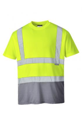 T-shirt technique bicolore haute visibilité