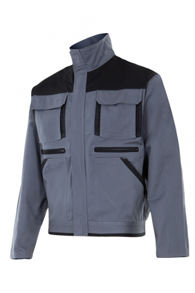 Blouson bicolore multipoches