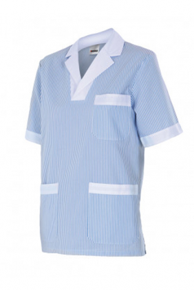Chemisette pyjama rayée manches courtes