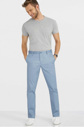 PANTALON STRETCH EN SATIN HOMME