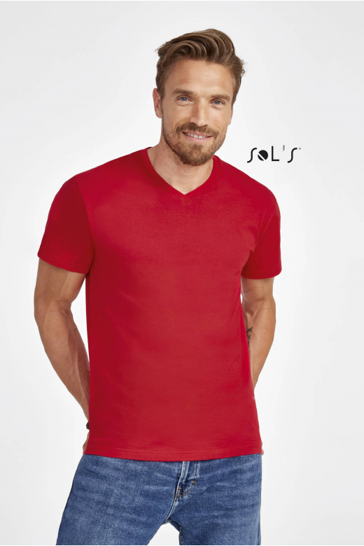 TEE-SHIRT HOMME COL ''V''