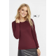 TEE-SHIRT FEMME COL ROND MANCHES LONGUES