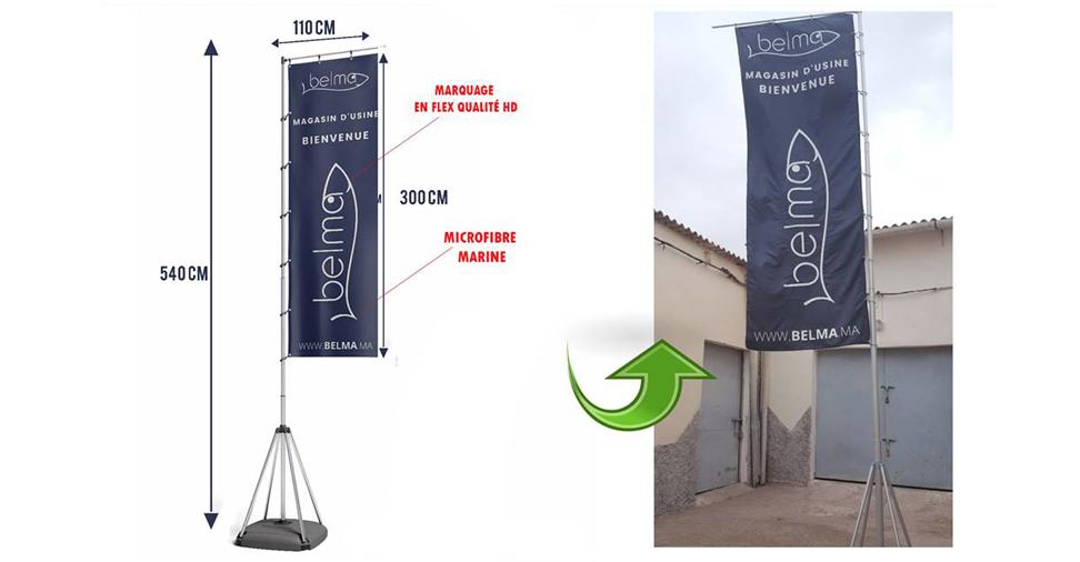 drapeaux publicitaires et oriflammes maroc